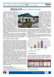 RIESGOS hacia un Quito más seguro - Instituto de la Ciudad