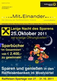 MitEinander_Herbst2011 (pdf) - Raiffeisenbank Ybbstal