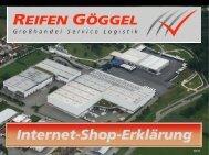 Internet-Shop-Erklärung