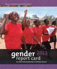 Gender Report Card on the International Criminal ... - YWCA Canada