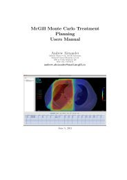 MMCTP manual - McGill Medical Physics Unit - McGill University