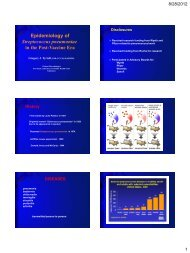 Epidemiology of Streptococcus pneumoniae in the Post ... - SWACM