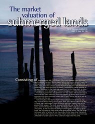 The Market Valuation of Submerged Lands