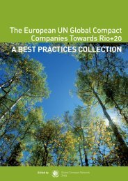 The European UN Global Compact Companies Toward Rio+20