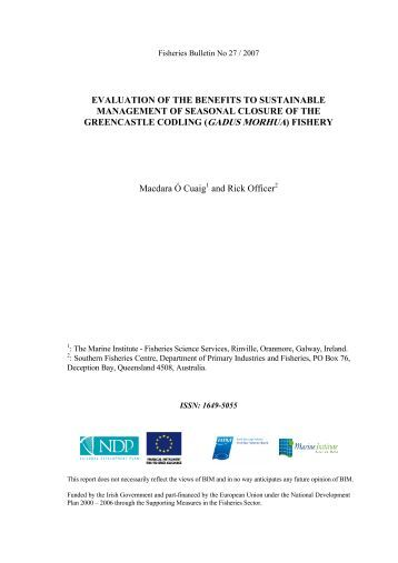 No27 Irish Fisheries Bulletin.pdf - Marine Institute Open Access ...