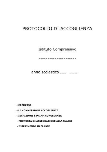 Protocollo accoglienza - Istituto Scolastico Comprensivo Lorenzo ...