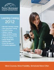 Download - New Horizons Computer Learning Centers