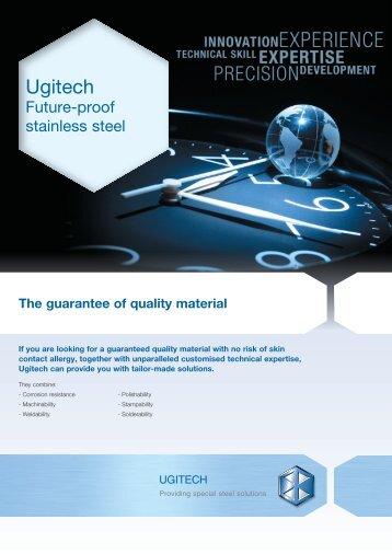 english version (pdf, 887.91 Kb) - Ugitech