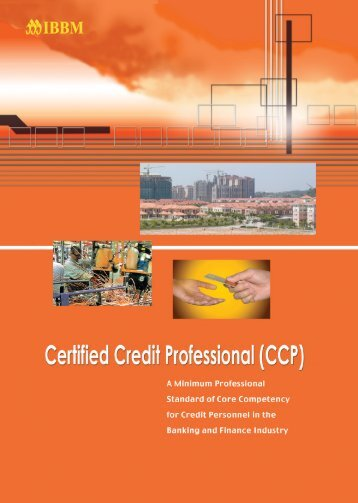 financial system and principles of credit - Institute of Bankers Malaysia