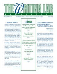 tutor training Comes Full CirCle - The Writing Lab Newsletter