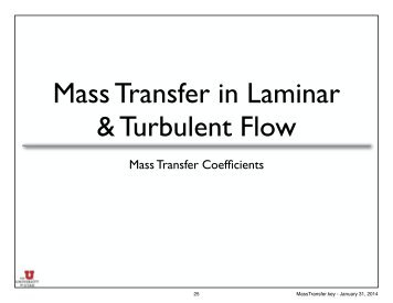 Mass Transfer Coefficients