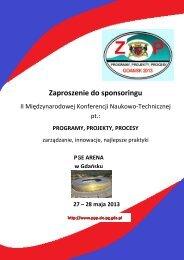 oferta sponsorska2013c - II Konferencja PPP