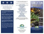 Family Fun - Exciting adventures for the whole family - Lake County ...