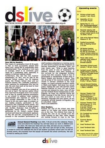 DEUTSCHE SCHULE LONDON May / June 2010 www.dslondon ...