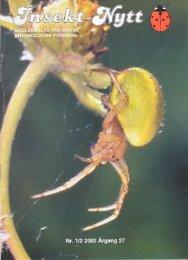 Insekt-Nytt • 27 (1/2) 2002 - Norsk entomologisk forening