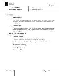 Standard Test Procedures Manual