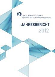 Jahresbericht 2012 - Ludwig Boltzmann Institut für Elektrostimulation ...