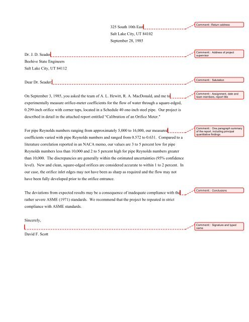 A Sample Formal Report Pdf Department Of Chemical Engineering