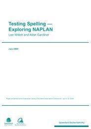 Testing spelling -- Exploring NAPLAN