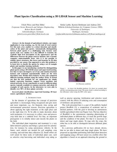 Plant Species Classification using a 3D LIDAR Sensor and
