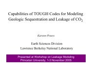 Capabilities of TOUGH Codes for Modeling Geologic Sequestration ...