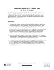 """OFCCP's """"template"""" for a written AAP document - Maly Consulting LLC"""