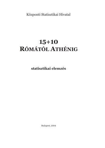 Rómától Athénig - Központi Statisztikai Hivatal