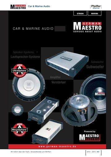Subwoofer Subwoofer Speaker Systems ... - Pfeiffer Marine GmbH