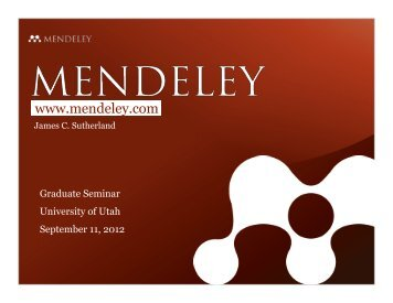 Organize your references using Mendeley.com - University of Utah