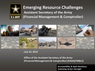 Emerging Resource Challenges The Honorable Dr ... - ASA(FM&C)