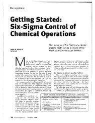 CEP Six Sigma.pdf - Department of Chemical Engineering