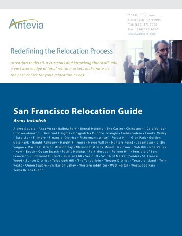 San Francisco Relocation Guide - Antevia
