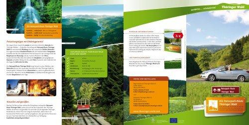Flyer Naturpark-Route Thüringer Wald als PDF-Dokument - Rennsteig