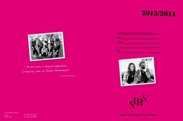 SHHS Sixth Form Prospectus - South Hampstead High School