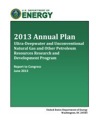 Section 999: 2013 Annual Plan - U.S. Department of Energy
