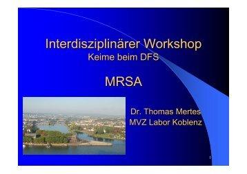 Interdisziplinärer Workshop MRSA
