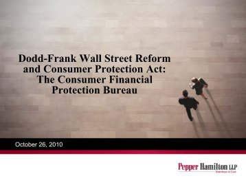 Dodd-Frank Wall Street Reform and Consumer Protection Act: The ...