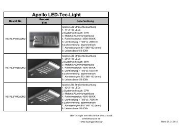 Apollo LED-Tec-Light - LED-Tec-Light Vertriebs GmbH Deutschland