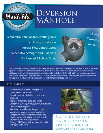 Diversion MAnhole - Plasti-Fab, Inc.