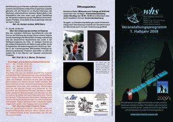 Veranstaltungsprogramm 1. Halbjahr 2009 - Walter-Hohmann ...