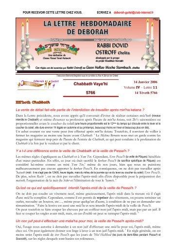 Volume IV - lettre n°11 - Association Deborah Guitel