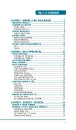 TABLE OF CONTENTS - Pioneer Cellular