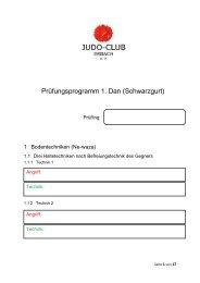 Prüfungsprogramm 1. Dan (Schwarzgurt)