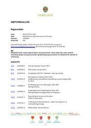 Innkalling og saksliste til regionrad 26.04.13 - Hadeland