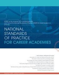 Career Academy National Standards Of Practice - CASN