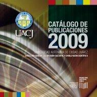 Catálogo de Publicaciones - Universidad Autónoma de Ciudad Juárez