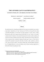 the gender gap in mathematics - BYU Department of Economics
