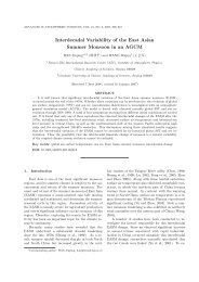 Interdecadal Variability of the East Asian Summer Monsoon in an ...