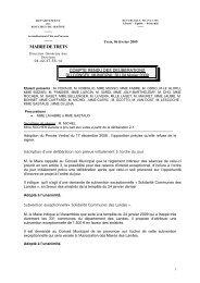 Compte-rendu du conseil municipal de Trets du 4 ... - Mairie-de-trets.fr