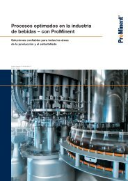 Folleto - Industria de bebidas - ProMinent